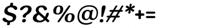 Hornbill Semi Bold Italic Font OTHER CHARS