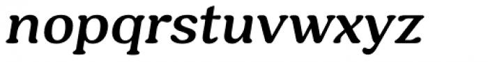 Hornbill Semi Bold Italic Font LOWERCASE