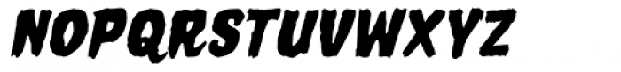 Horror Show Bold Oblique Font UPPERCASE