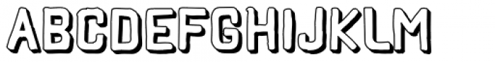 Hors 3D Font UPPERCASE