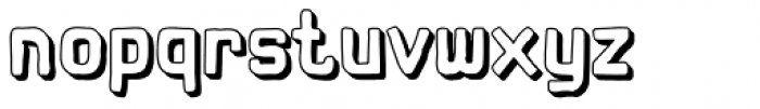 Hors 3D Font LOWERCASE