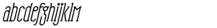 HorseFace Bold Oblique Font LOWERCASE