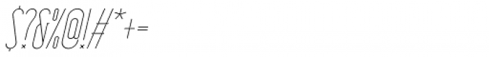 HorseFace Light Oblique Font OTHER CHARS