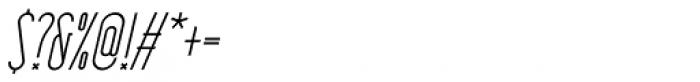 HorseFace Oblique Font OTHER CHARS