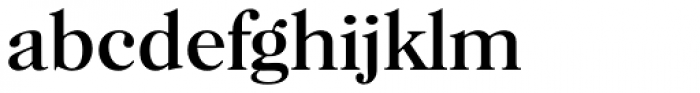 Horsham Serial Font LOWERCASE