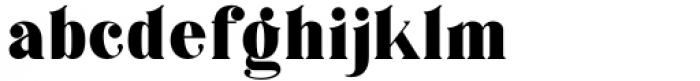 Horst More Black Font LOWERCASE