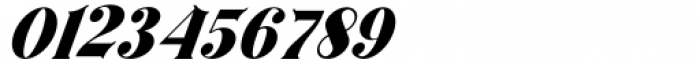 Horst More Italic Black Font OTHER CHARS