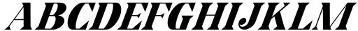 Horst More Italic Black Font UPPERCASE