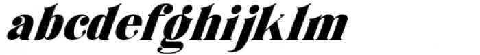 Horst More Italic Black Font LOWERCASE