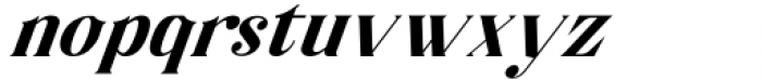 Horst More Italic Bold Font LOWERCASE
