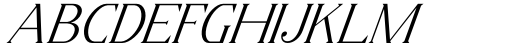 Horst More Italic Extra Light Font UPPERCASE