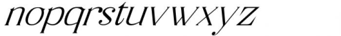 Horst More Italic Extra Light Font LOWERCASE