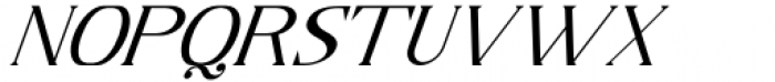 Horst More Italic Light Font UPPERCASE