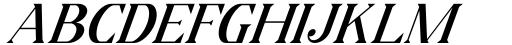 Horst More Italic Medium Font UPPERCASE