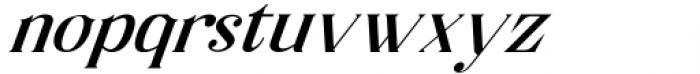 Horst More Italic Medium Font LOWERCASE
