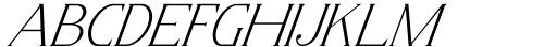 Horst More Italic Thin Font UPPERCASE