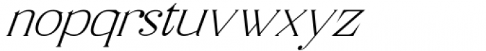 Horst More Italic Thin Font LOWERCASE