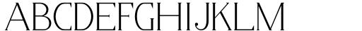 Horst More Thin Font UPPERCASE