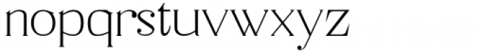 Horst More Thin Font LOWERCASE