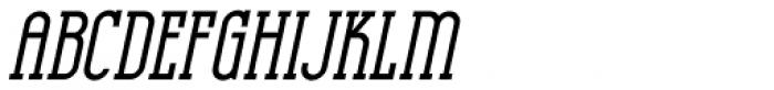 Hotel District Oblique JNL Font LOWERCASE