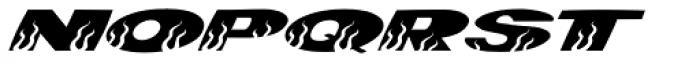 Hotrod Italic Font LOWERCASE