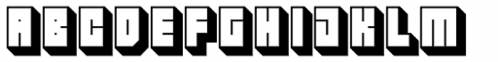 Hounslow Shadow Font LOWERCASE