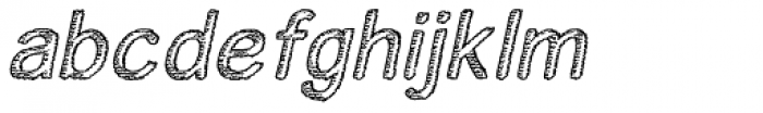 Houral Etched Oblique Font LOWERCASE