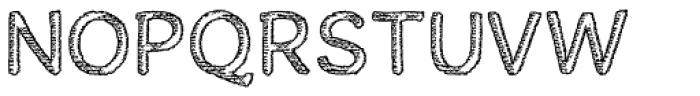 Houral Etched Font UPPERCASE
