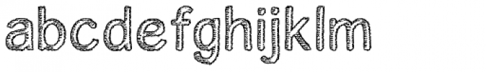 Houral Etched Font LOWERCASE