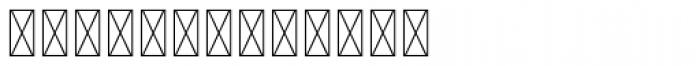 Hours Matrix Underinked Font UPPERCASE