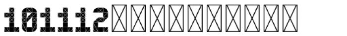 Hours Metropolitan Font UPPERCASE