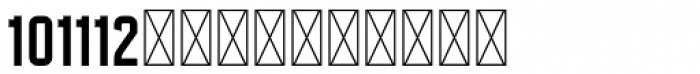 Hours Plate Font LOWERCASE