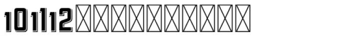 Hours Sudbury Font UPPERCASE