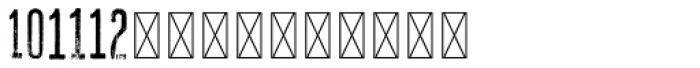 Hours Vantage Font LOWERCASE