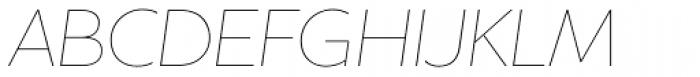 Houschka Alt Pro Thin Italic Font UPPERCASE