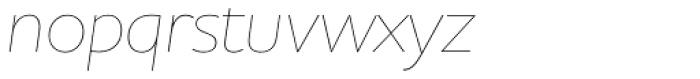 Houschka Alt Pro Thin Italic Font LOWERCASE