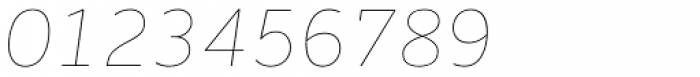 Houschka Pro Thin Italic Font OTHER CHARS