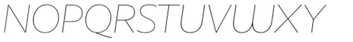 Houschka Pro Thin Italic Font UPPERCASE