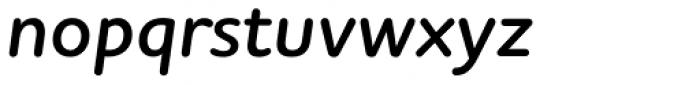 Houschka Rounded Alt Demi Bold Italic Font LOWERCASE