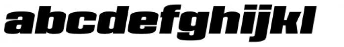 House Sans Narrow Heavy Italic Font LOWERCASE