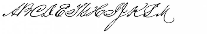 Houston Pen Font UPPERCASE