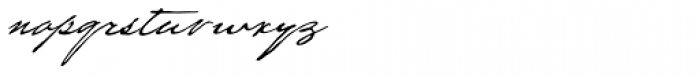 Houston Pen Font LOWERCASE