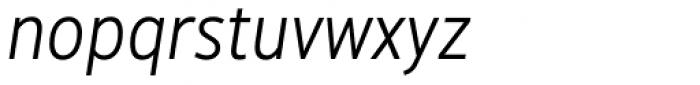 Hoxton North Light Italic Font LOWERCASE