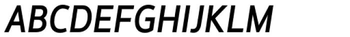 Hoxton North Medium Italic Font UPPERCASE
