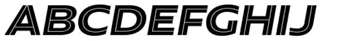 Hrot Inline Italic Font UPPERCASE