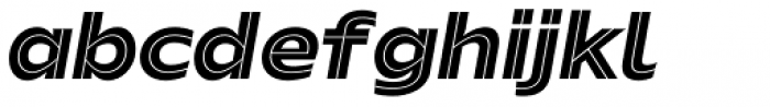 Hrot Inline Italic Font LOWERCASE