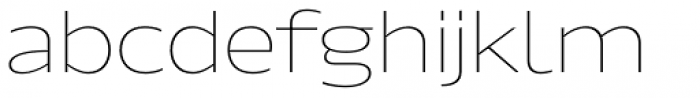 Hrot Thin Regular Font LOWERCASE