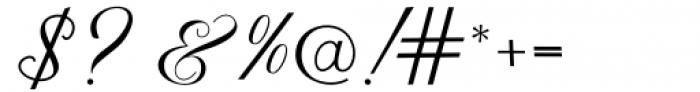 Hrothberta Script Regular Font OTHER CHARS