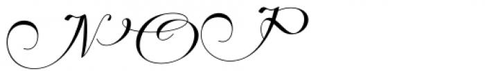 Hrothberta Script Regular Font UPPERCASE