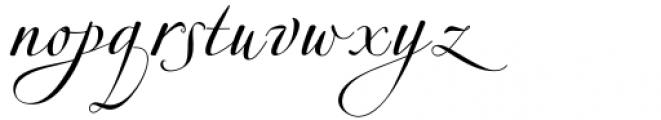 Hrothberta Script Regular Font LOWERCASE